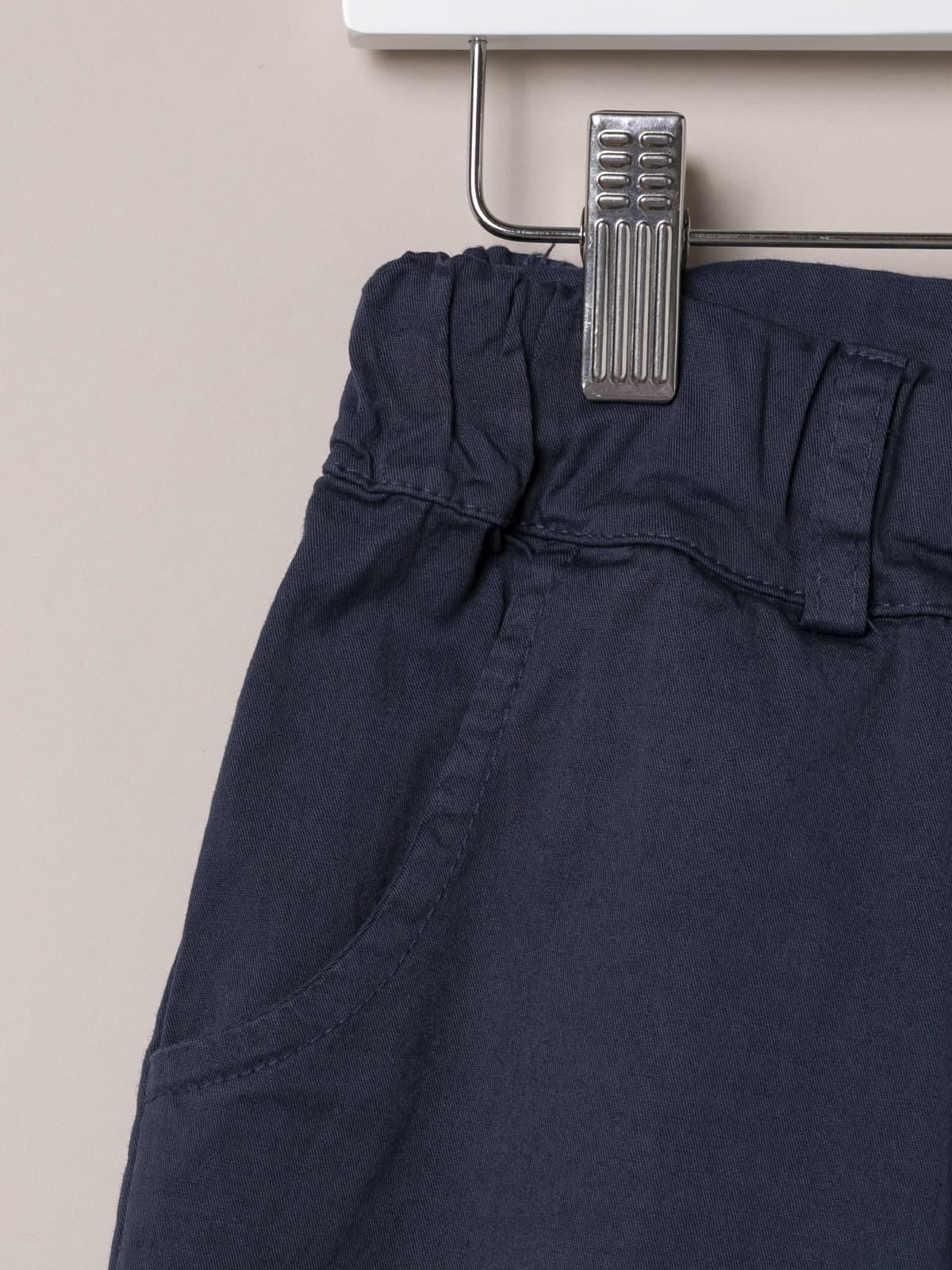 Woman Woman cotton Bermuda with straps Blue Navy