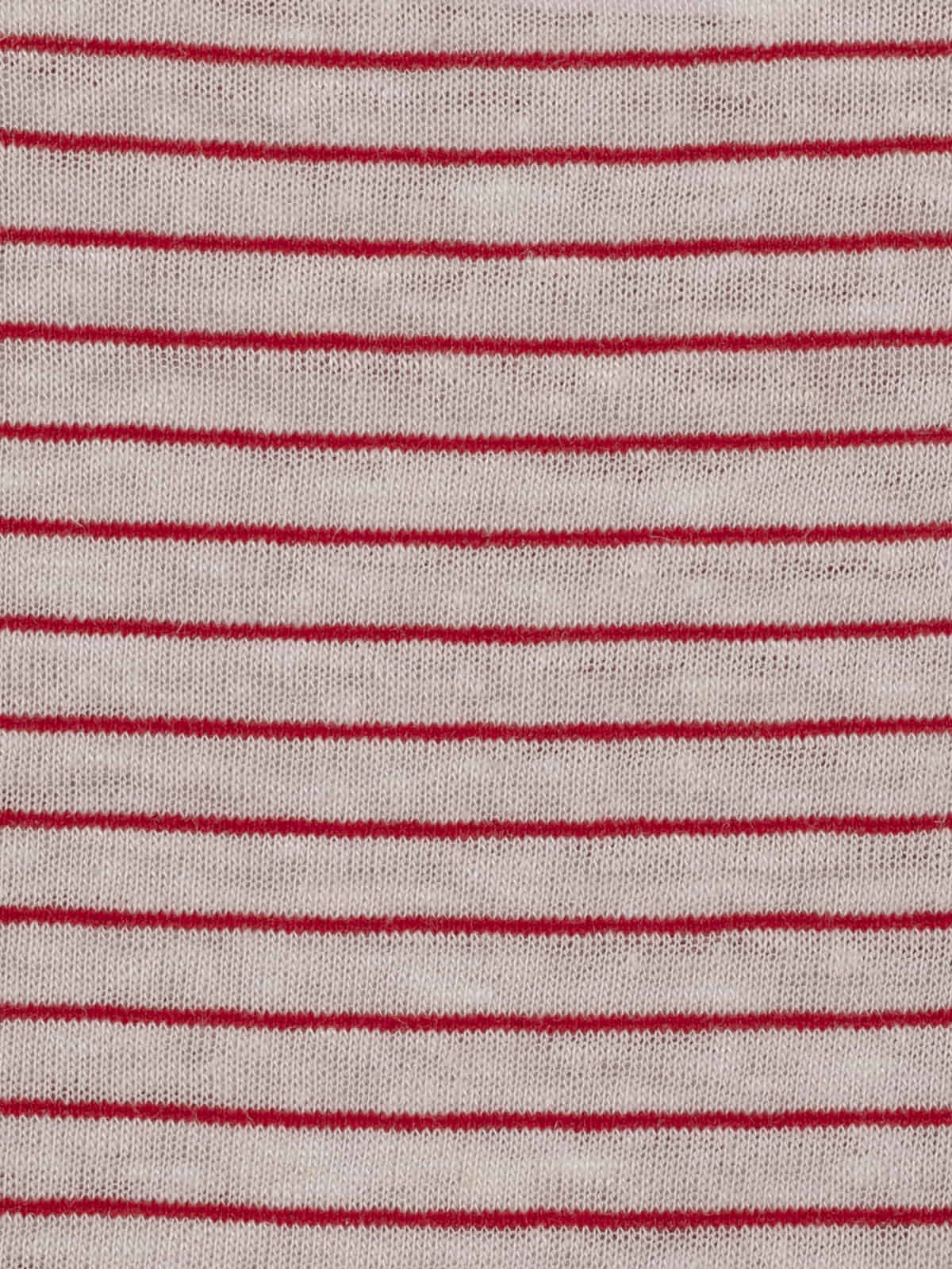 Camiseta mujer de rayas anudada Rojo