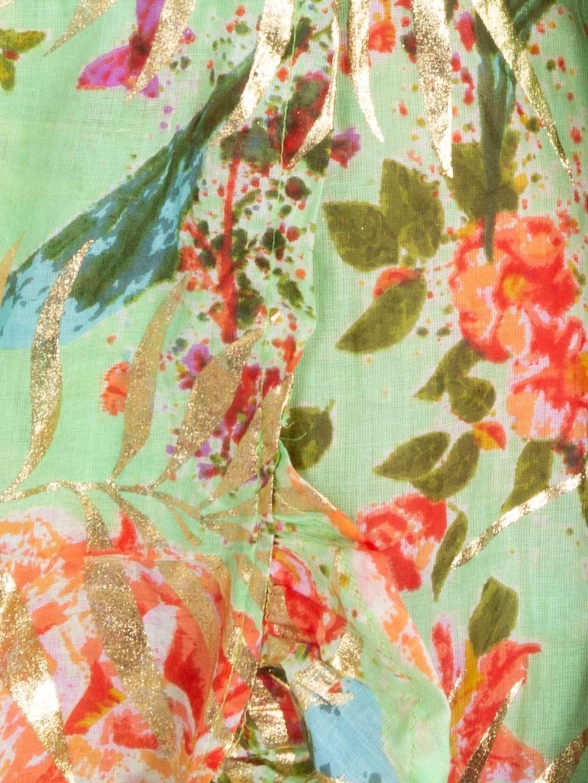 Woman Woman Glitter printed cotton dress Green