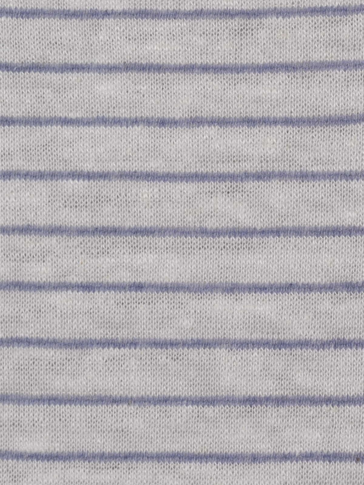 Camiseta mujer de rayas anudada Azul