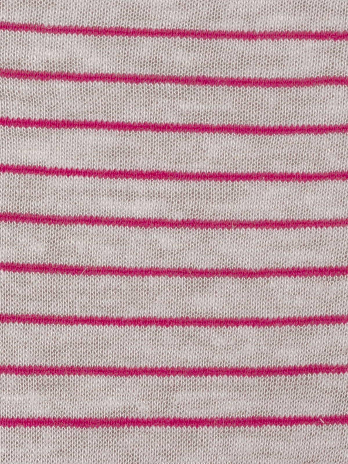 Camiseta mujer especial rayas cuello pico Fucsia