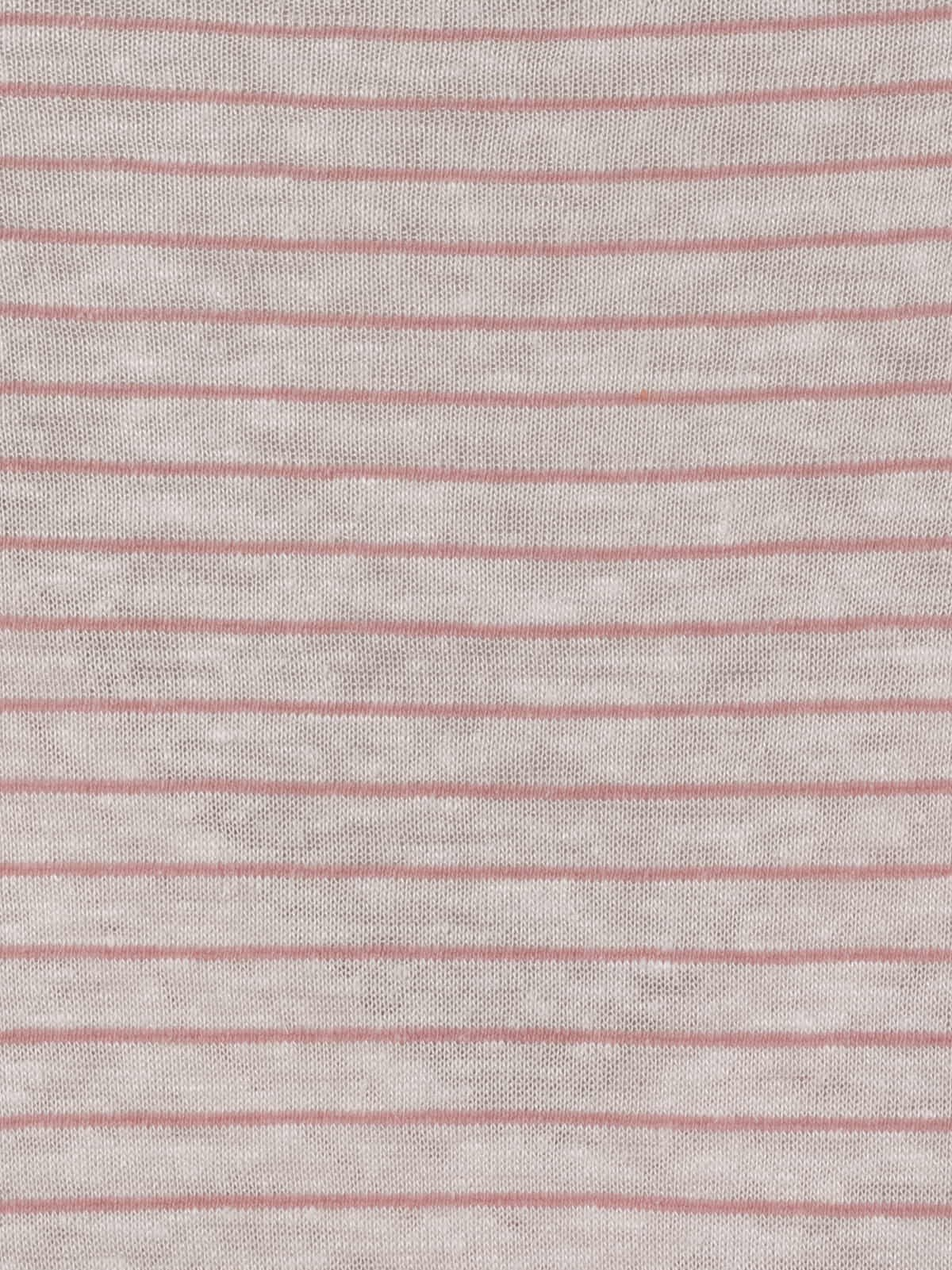 Woman Special striped V-neck T-shirt Pink
