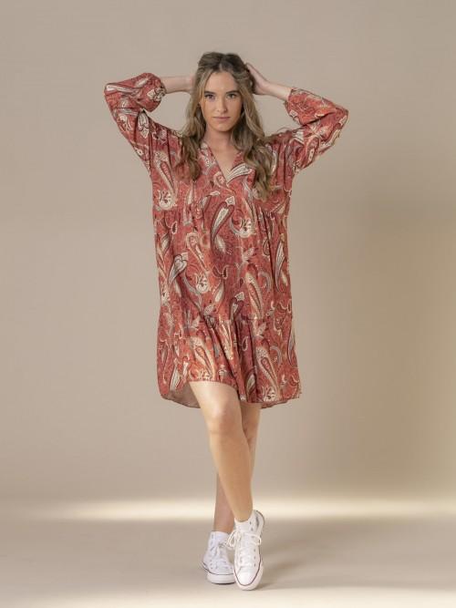 Vestido estampado etro Rosa