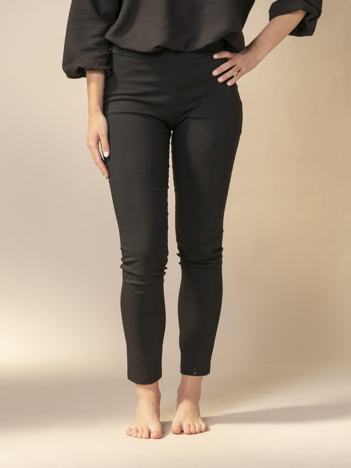 Woman Slim fit super cofort trousers Black