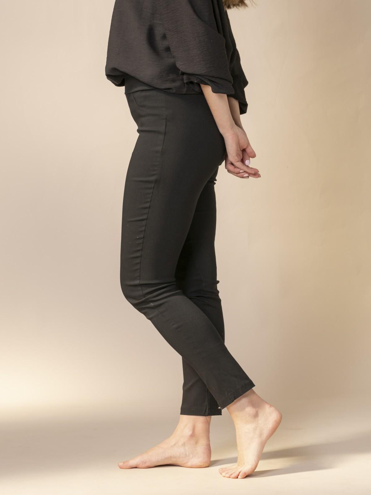 Pantalón mujer slim fit super cofort Negro