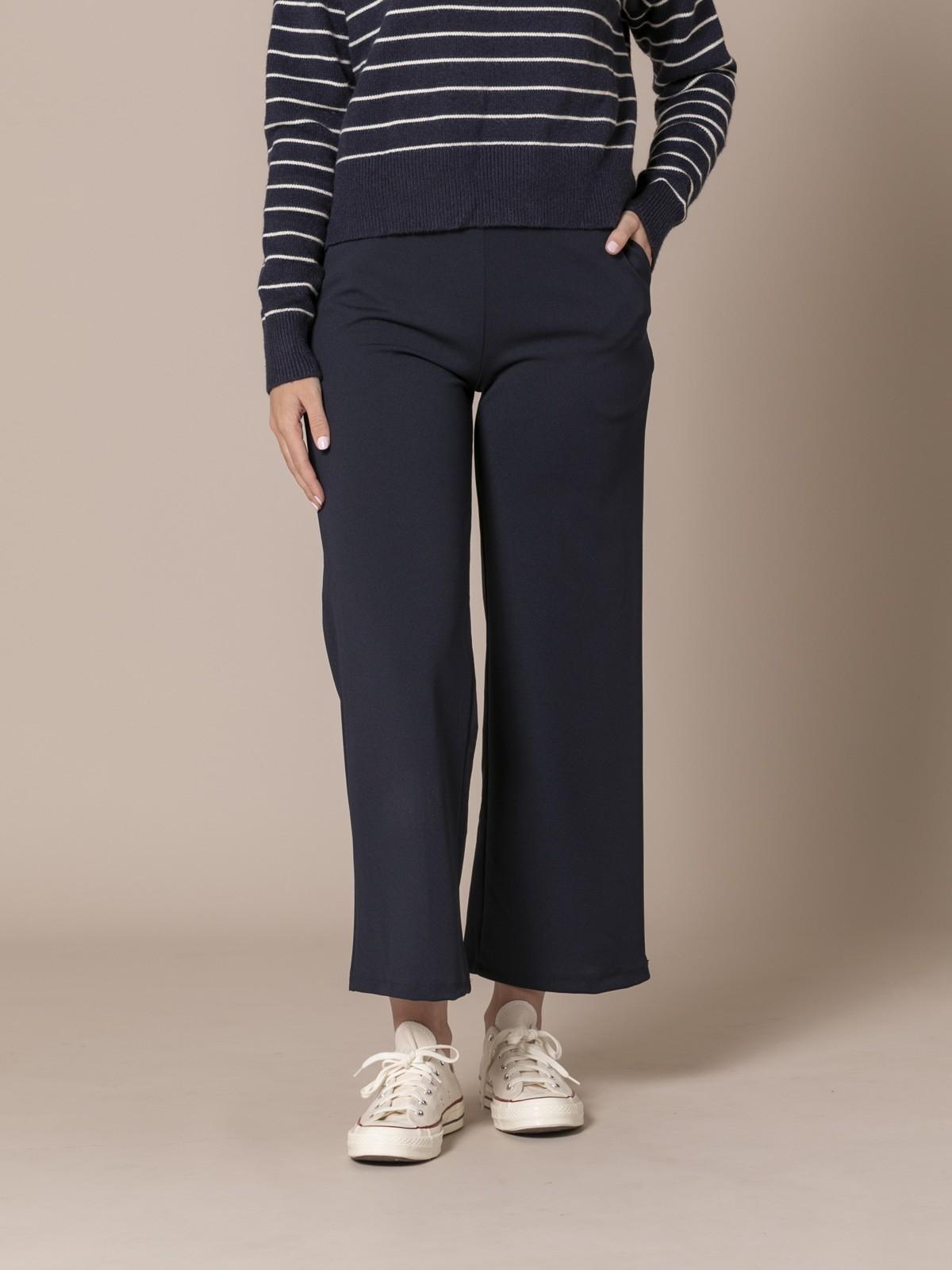 Pantalón mujer de caida con bolsillos Azul Marino