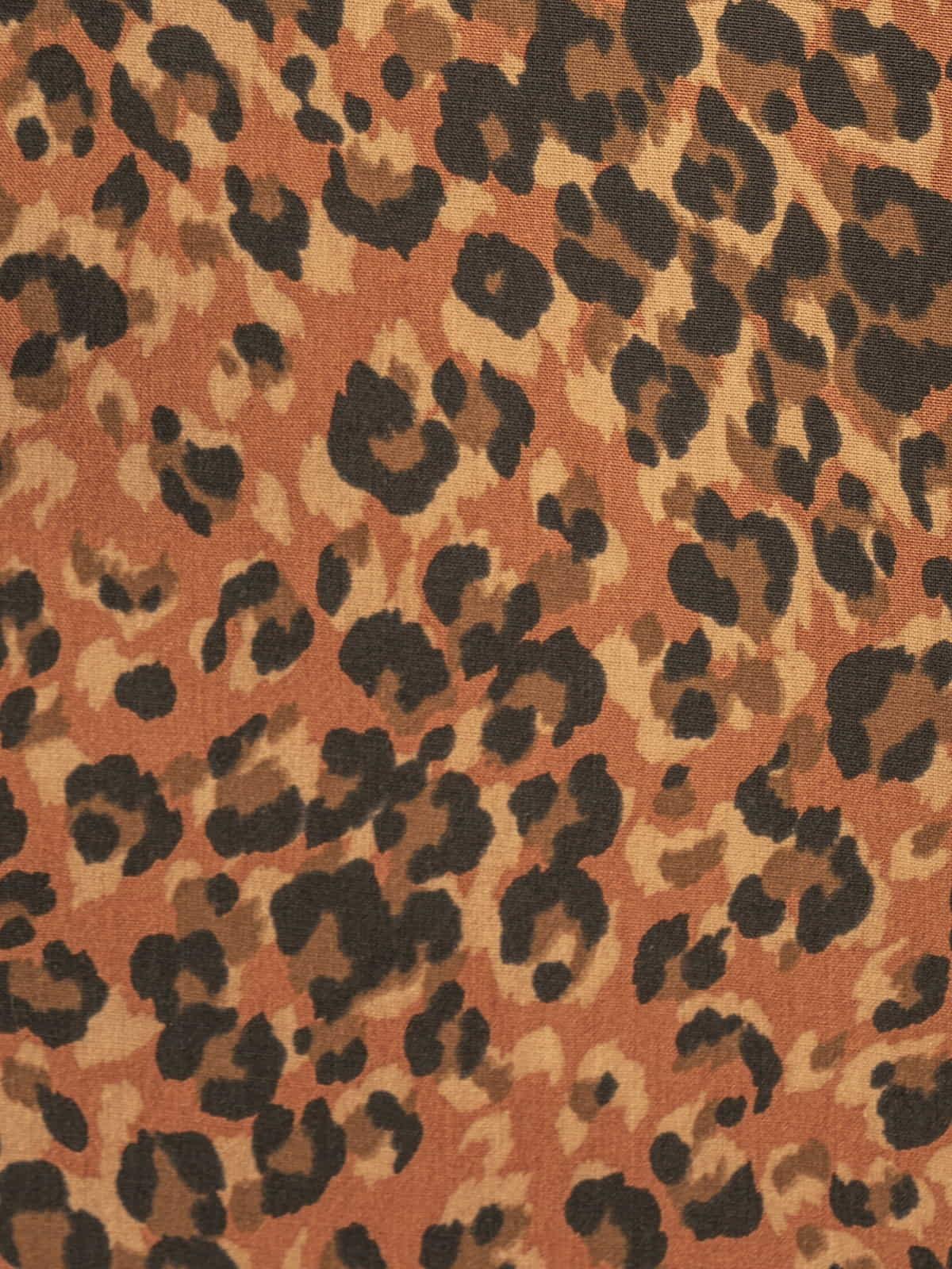 Camisa mujer botones animal print pequeñito Teja