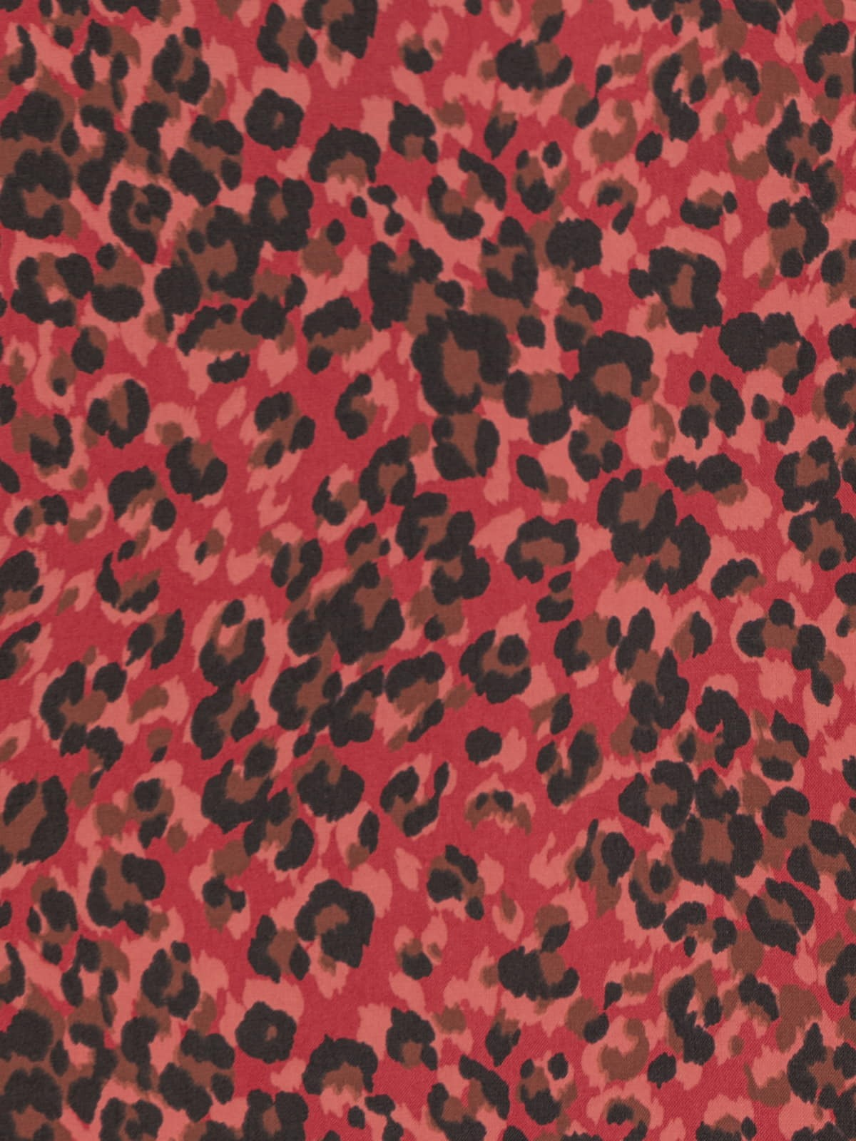 Woman Tiny animal print shirt Red