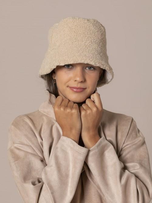 Woman Trendy reversible hat Beige