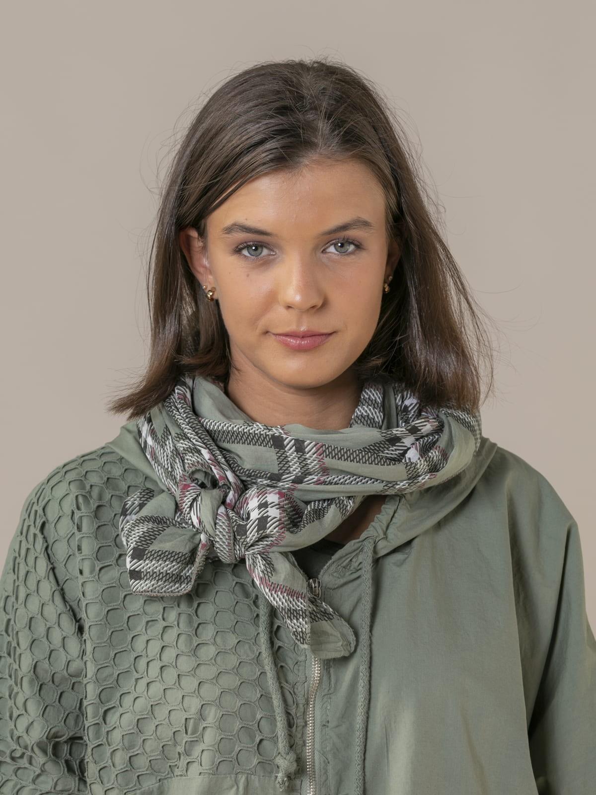 Fular mujer cuadro burberry Caqui