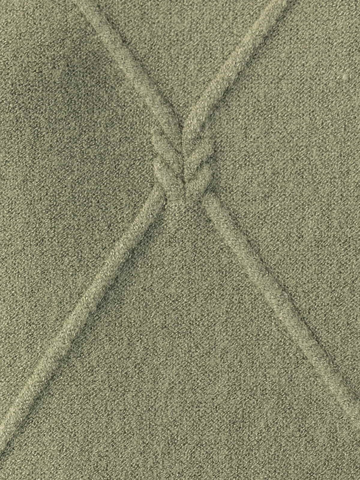 Woman Knitted and rhombus sweater Khaki
