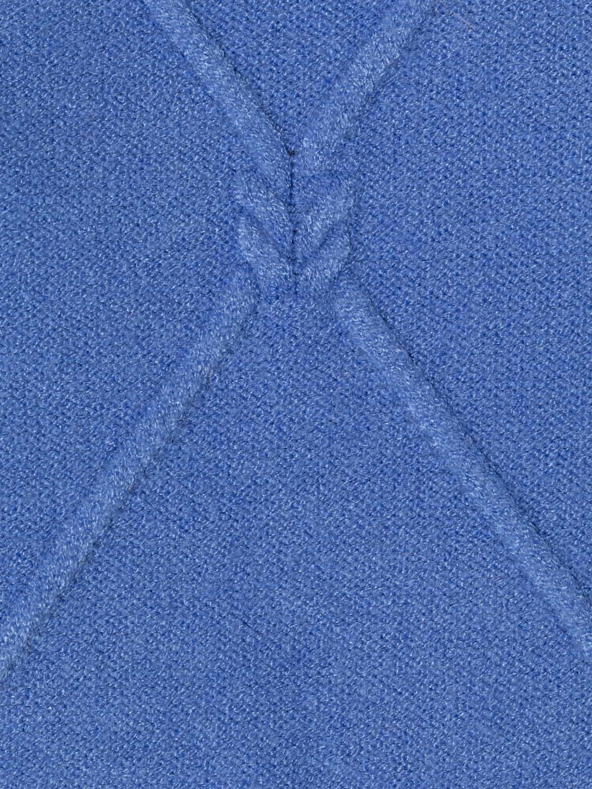 Jersey de punto rombos mujer Azul
