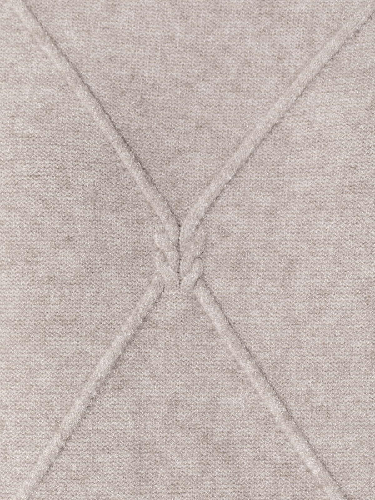 Jersey de punto rombos mujer Beige