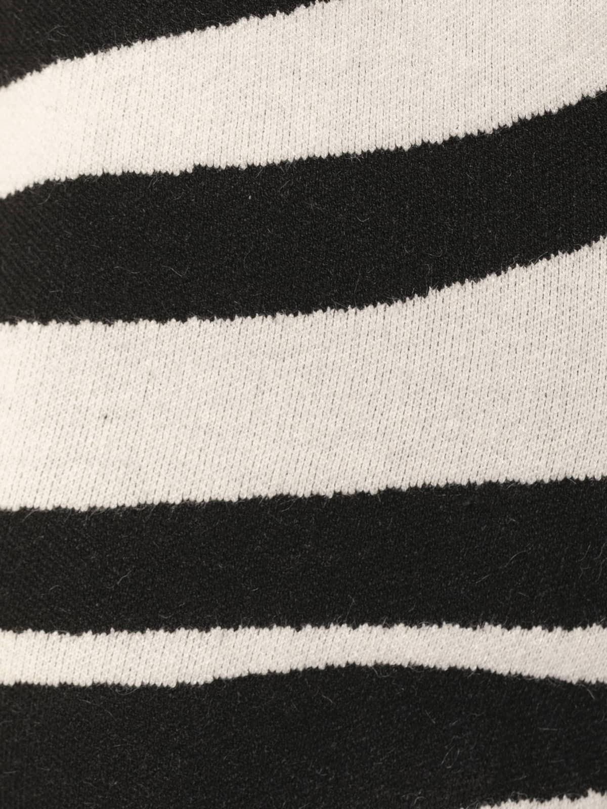 Pantalón mujer punto cebra Negro
