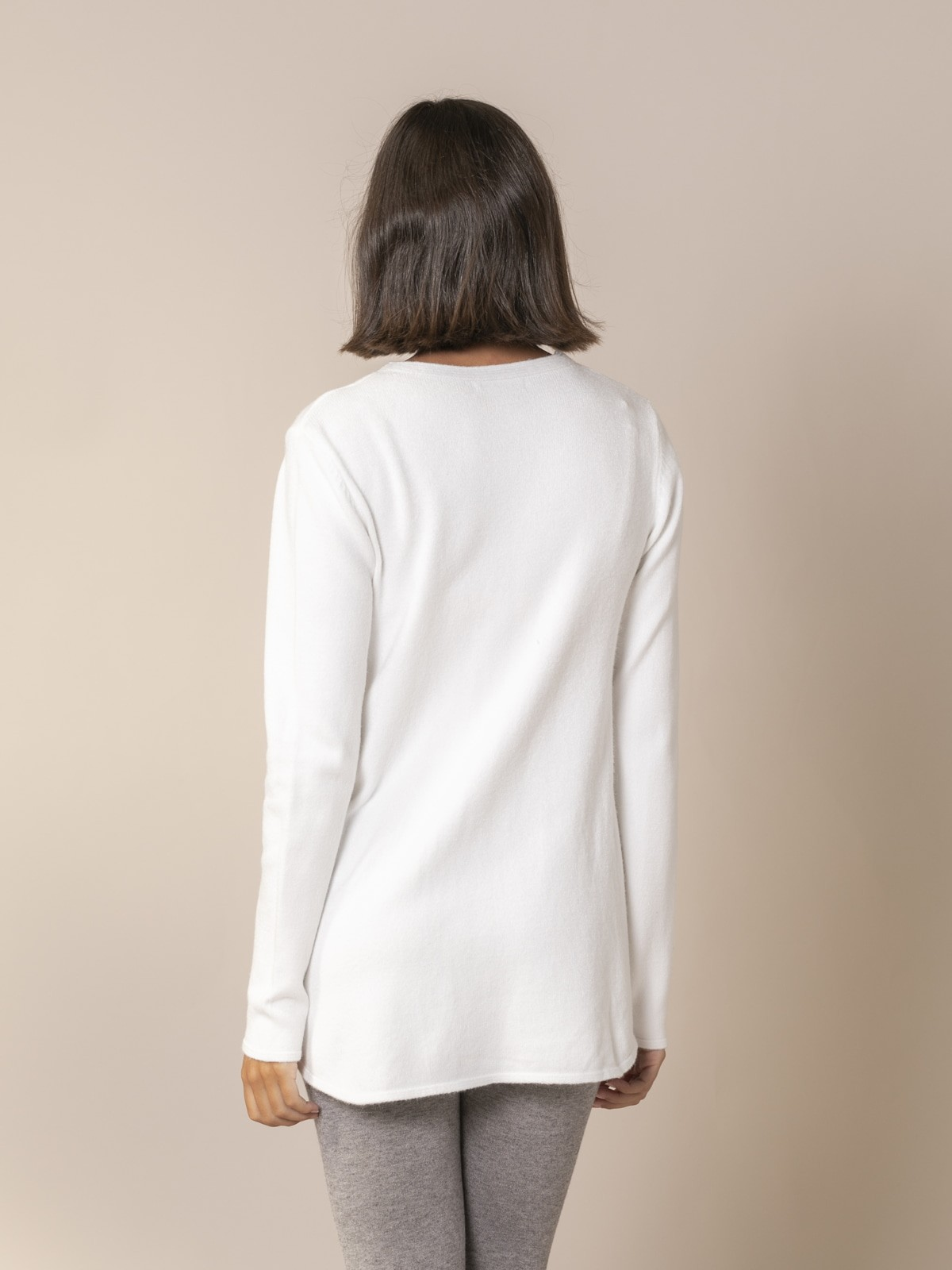 Woman Cable knit sweater White