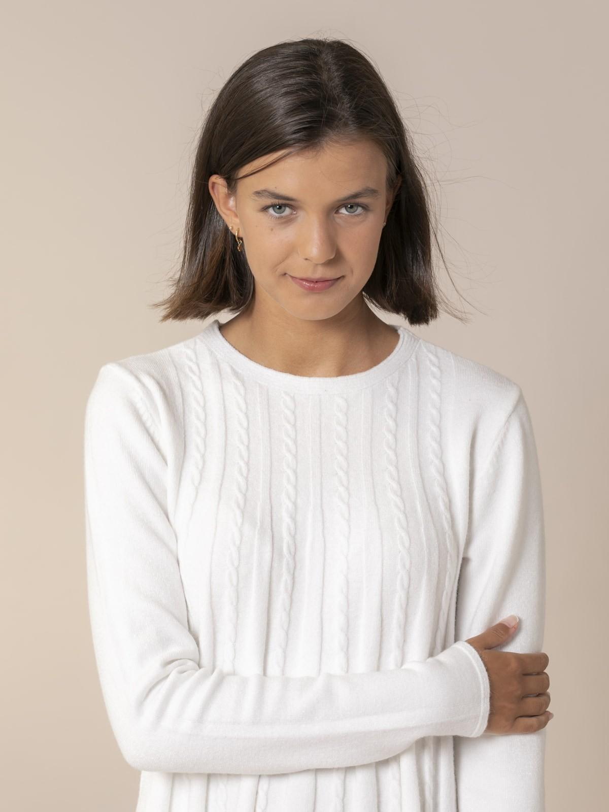 Jersey mujer punto ochos Blanco