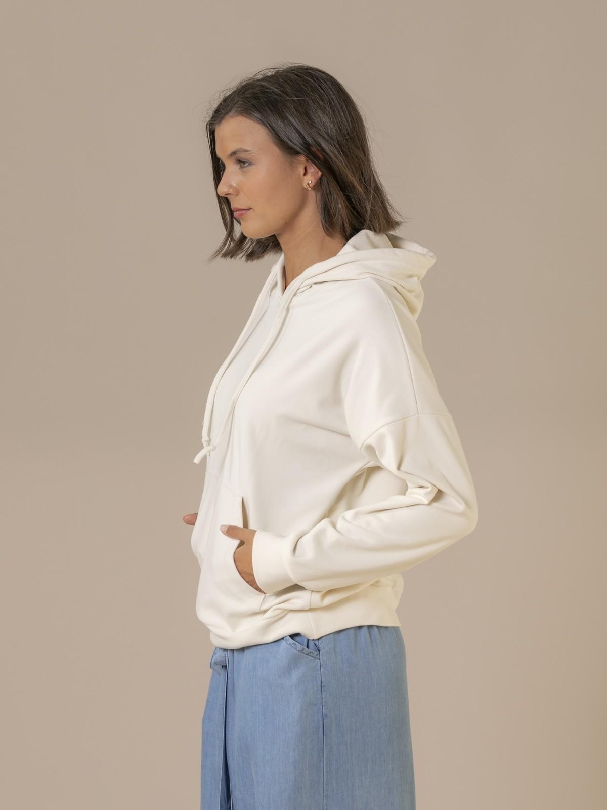 Woman Basic fleece sweatshirt Crudo