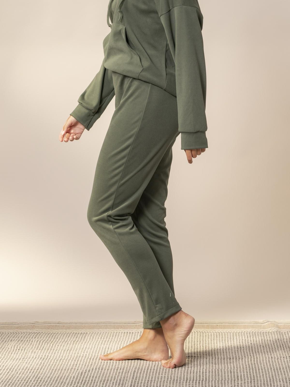Woman Basic fleece trousers Khaki