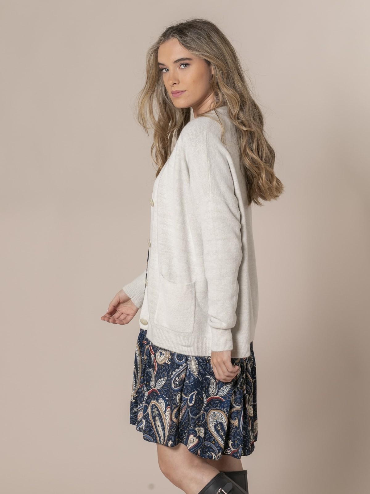Woman Dolce knit cardigan Beige