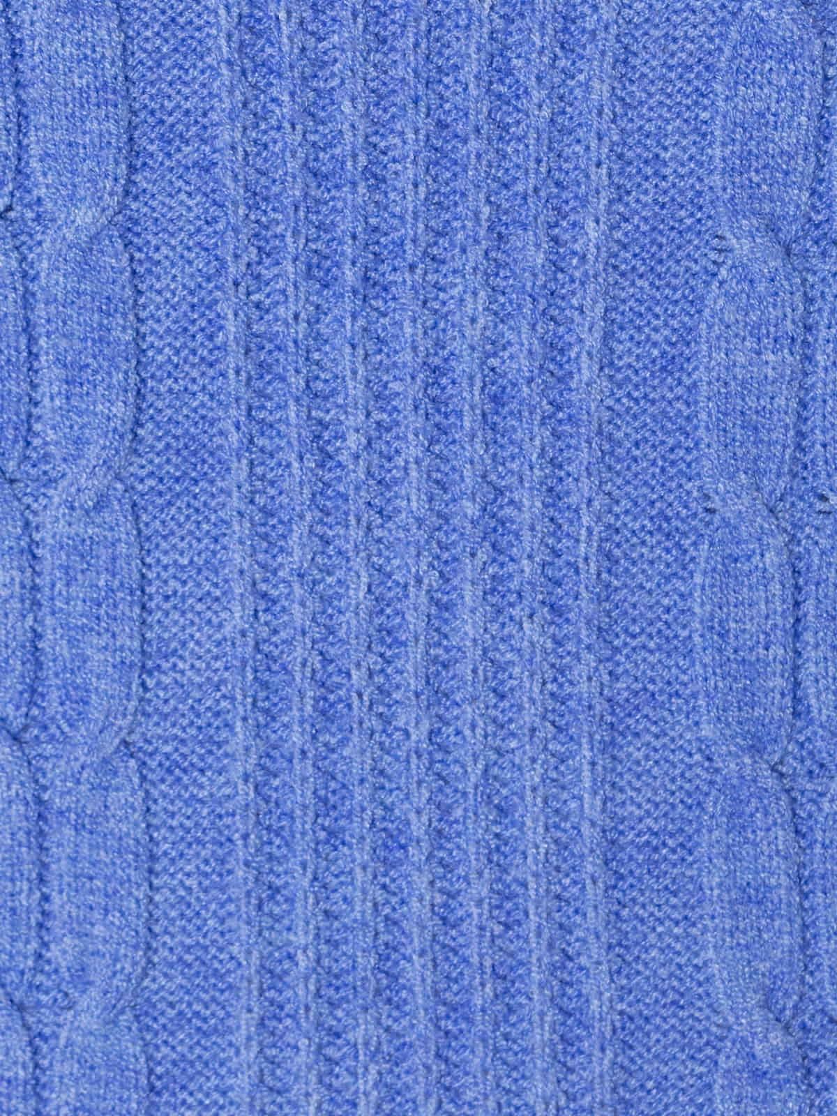 Chaleco de punto corto y trenzado Azul