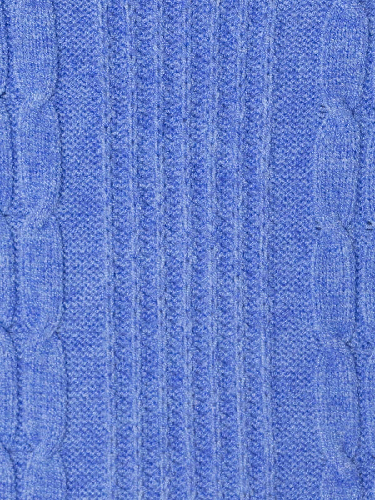 Woman Short braided knit vest Blue