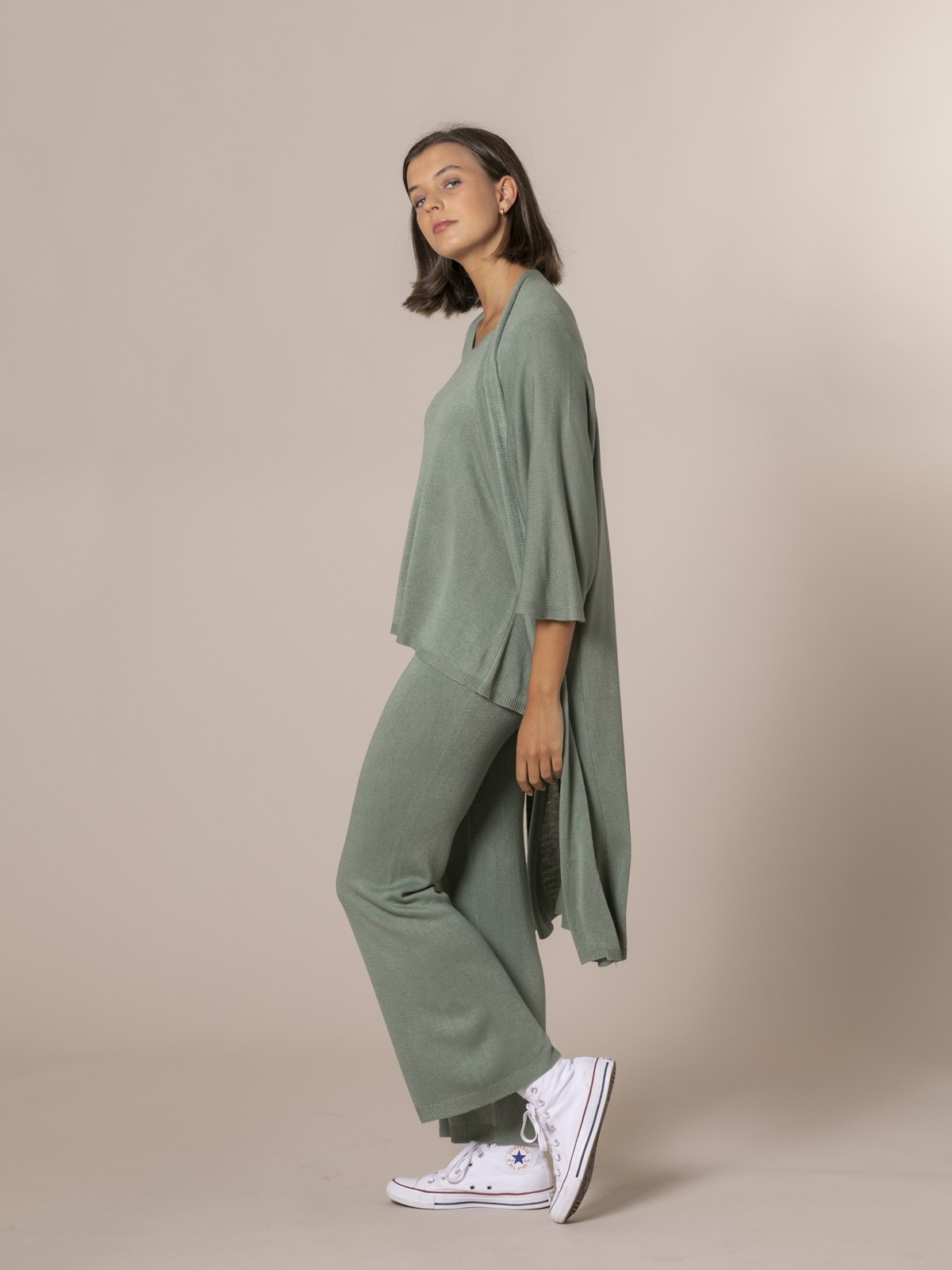 Woman Long Jacket Khaki
