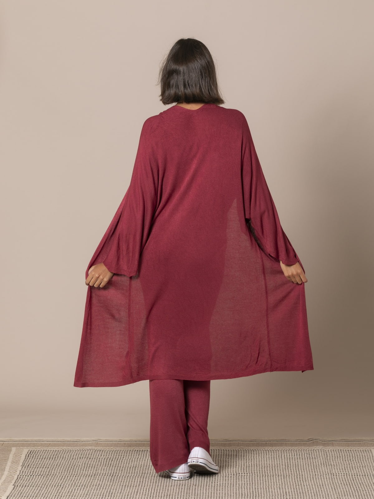 Woman Long Jacket Granate