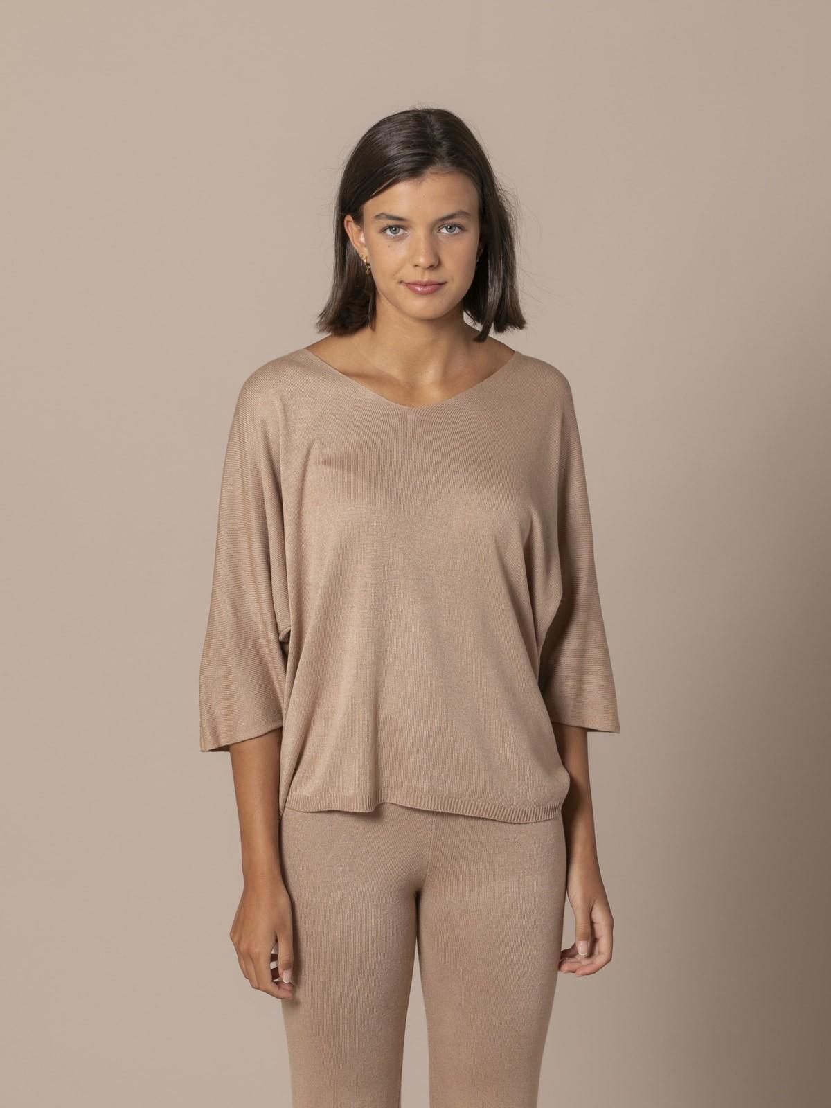 Jersey de mujer suelto Camel
