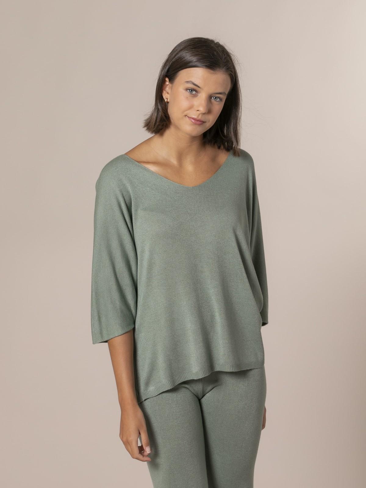 Woman Loose jumper Khaki