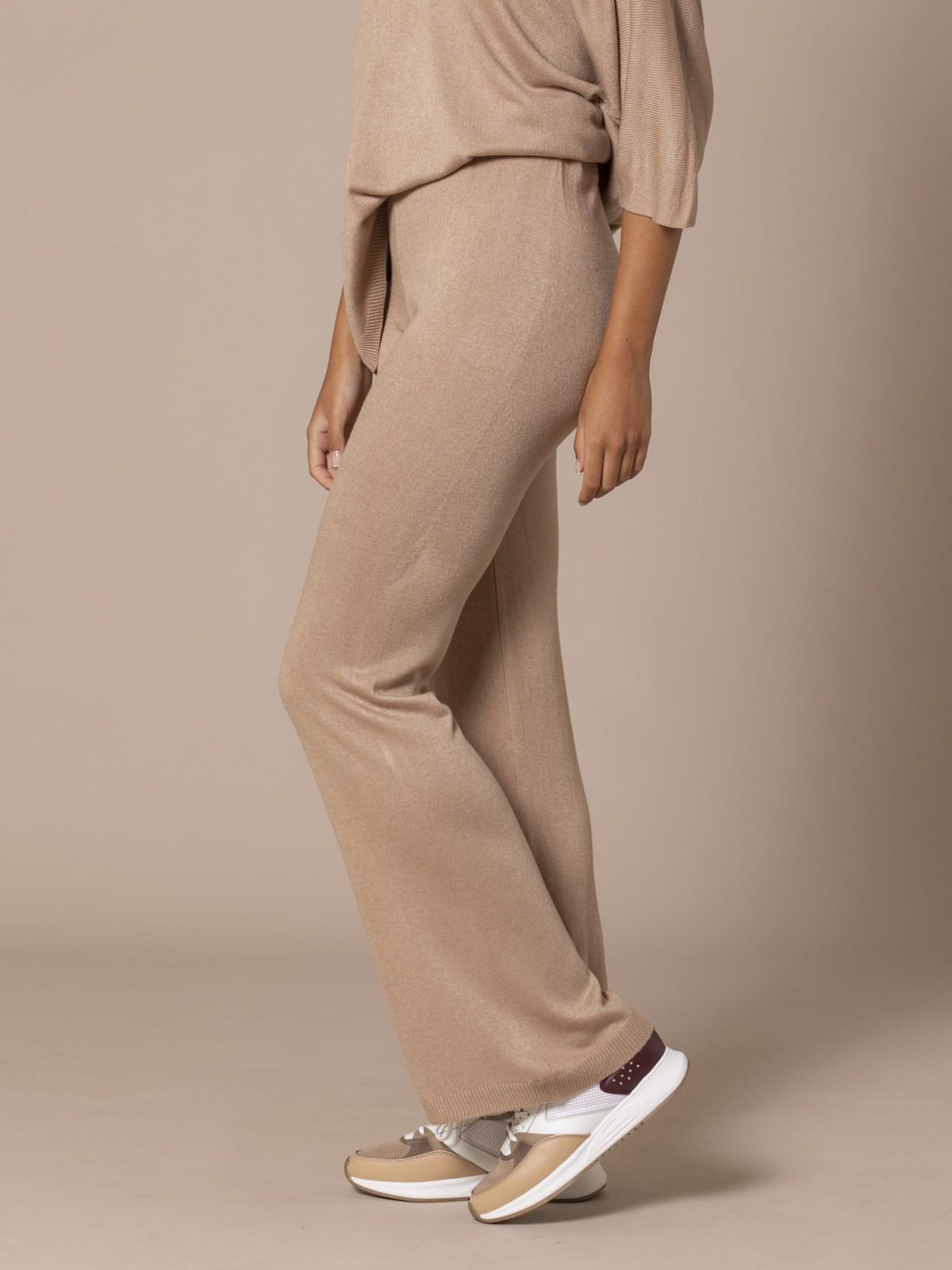 Woman Knit trousers Camel