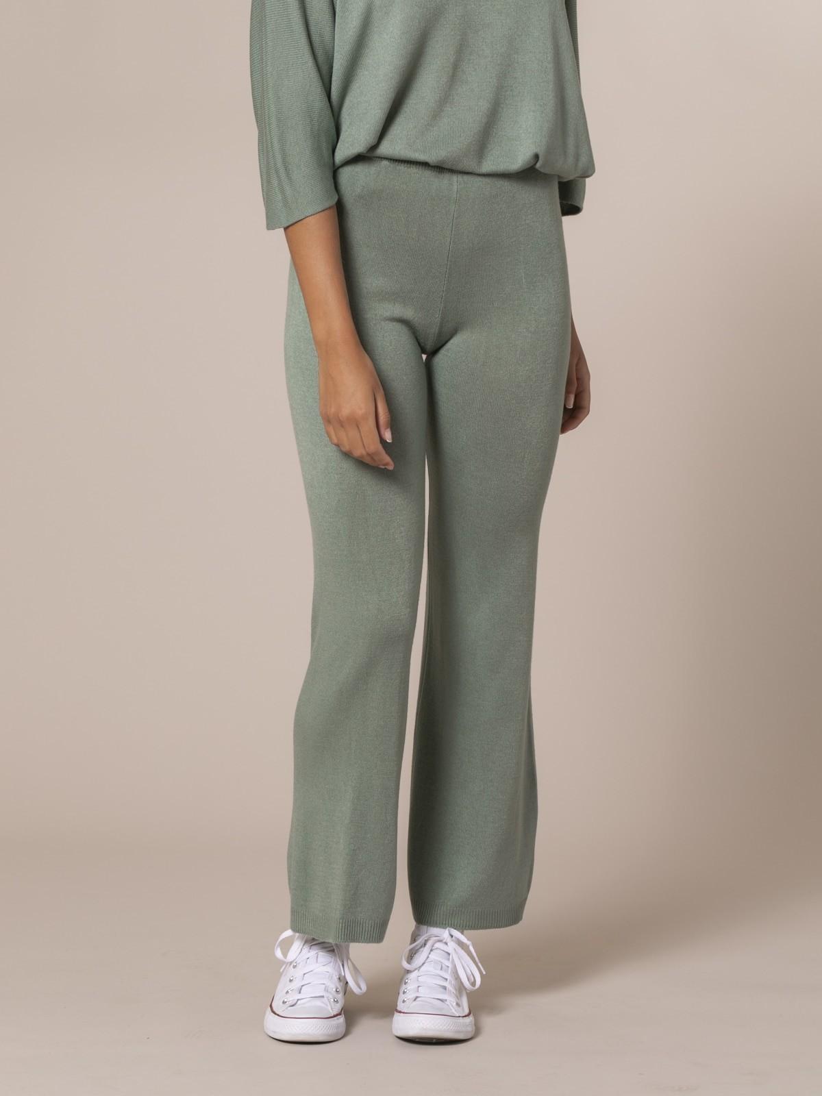 Pantalón mujer de punto Caqui