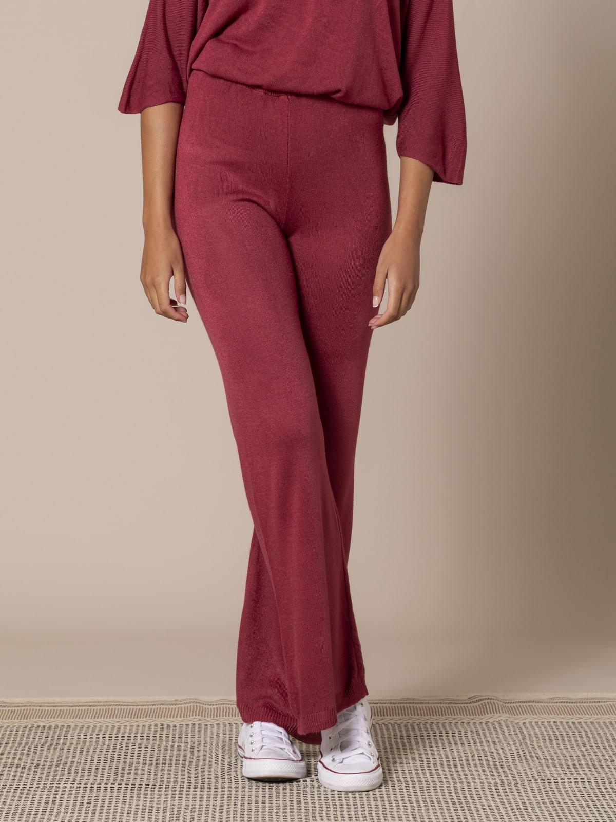 Woman Knit trousers Granate