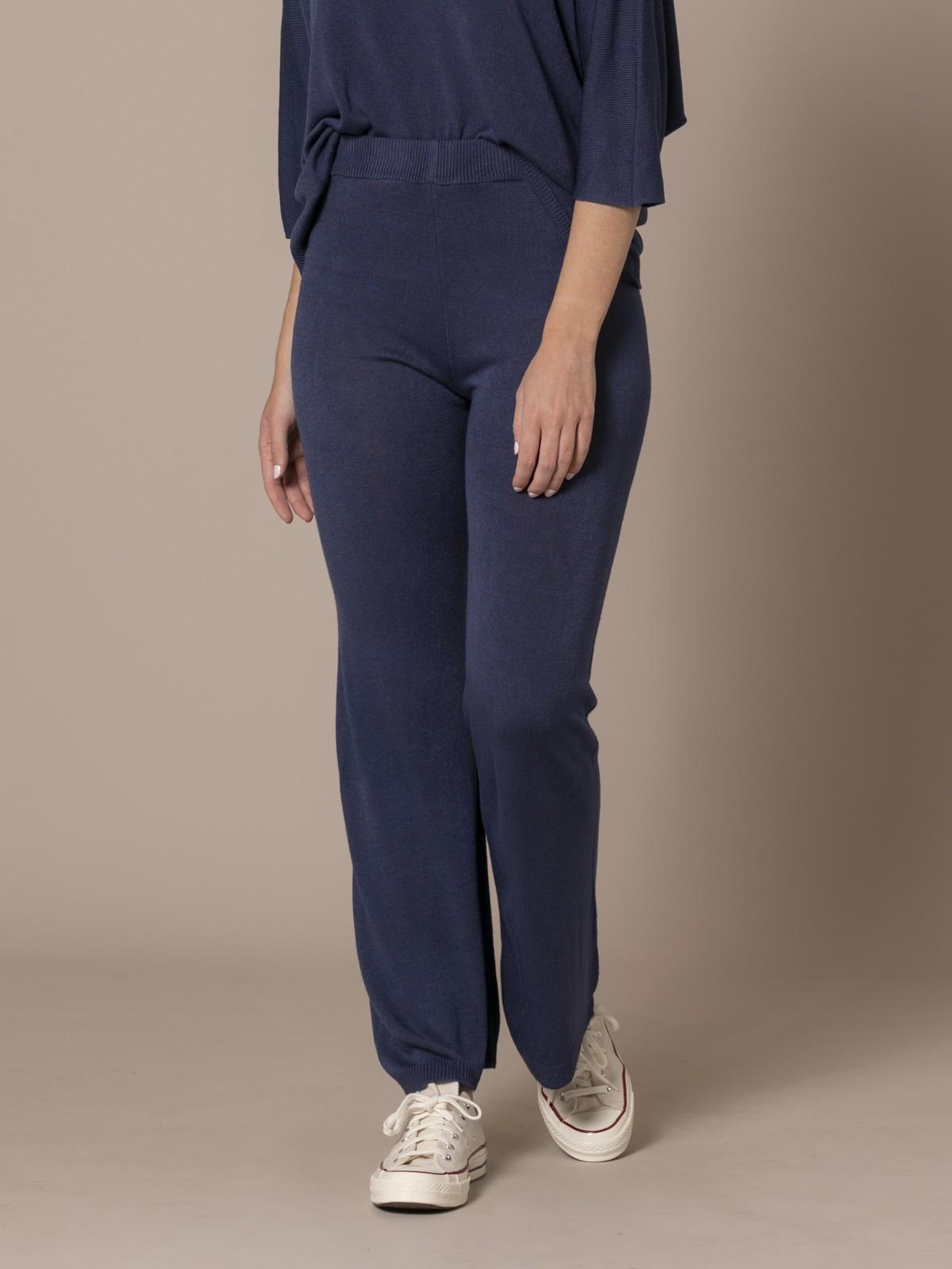 Pantalón mujer de punto Azul Marino