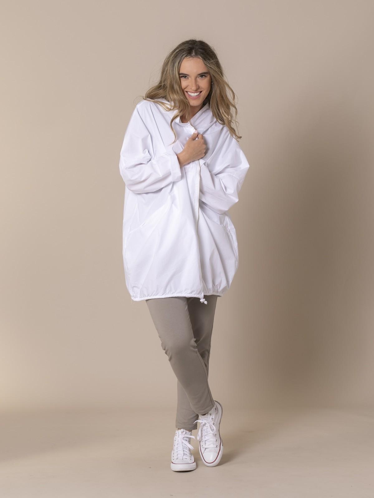 Woman Oversized plain parka White