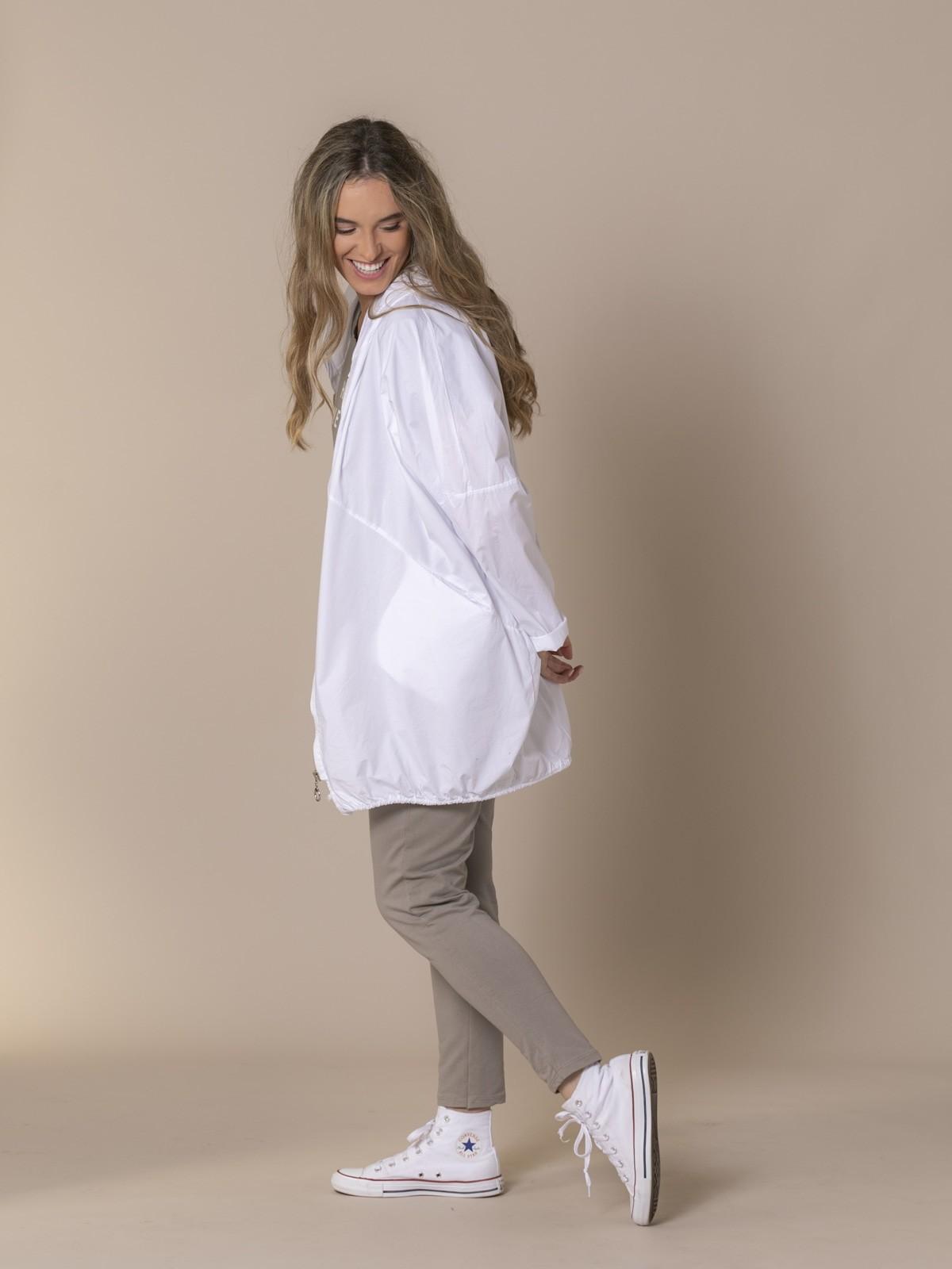 Parka mujer lisa oversize Blanco