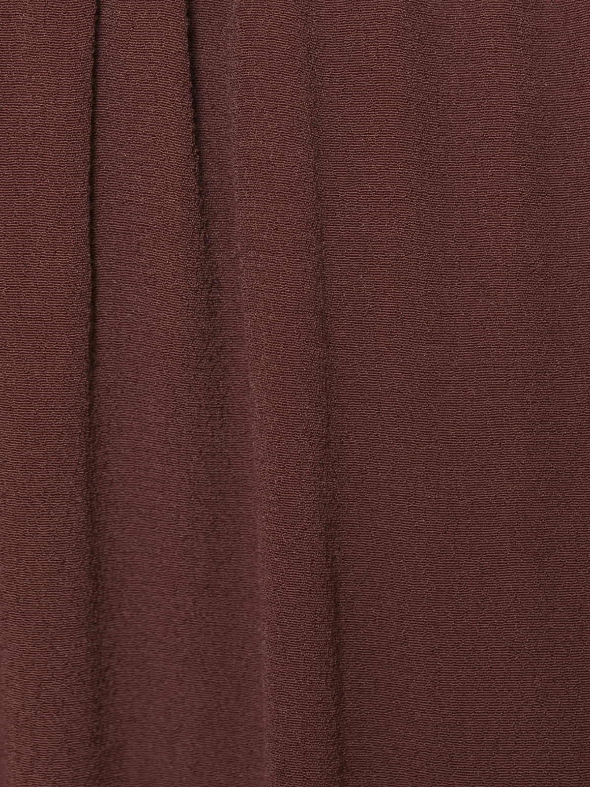 Woman Crepe skirt Granate