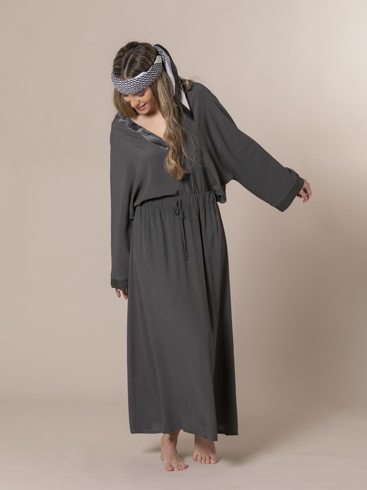 Woman Crepe skirt Grey