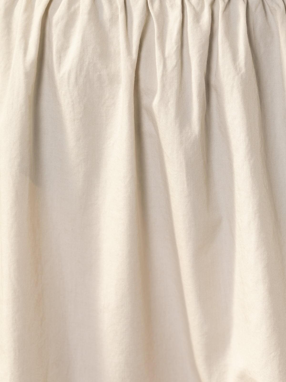 Falda larga cintura elástica Beige