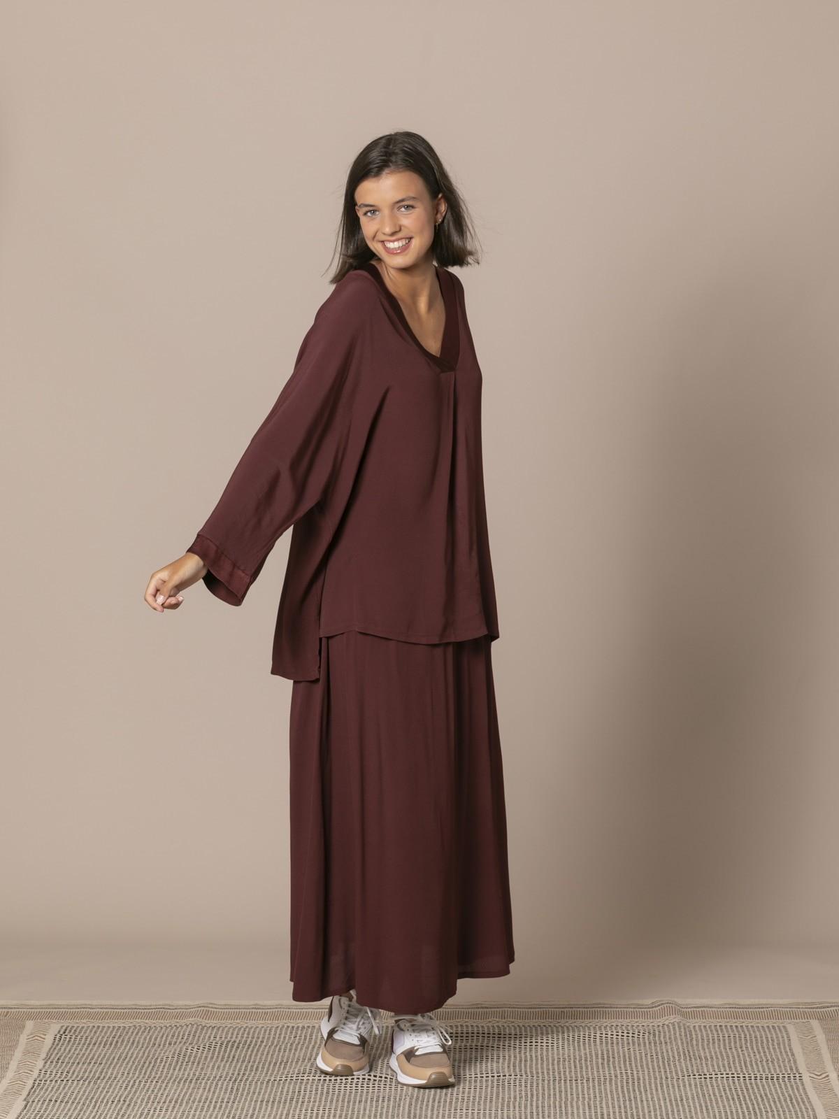 Woman Oversized V-neck camisole Granate