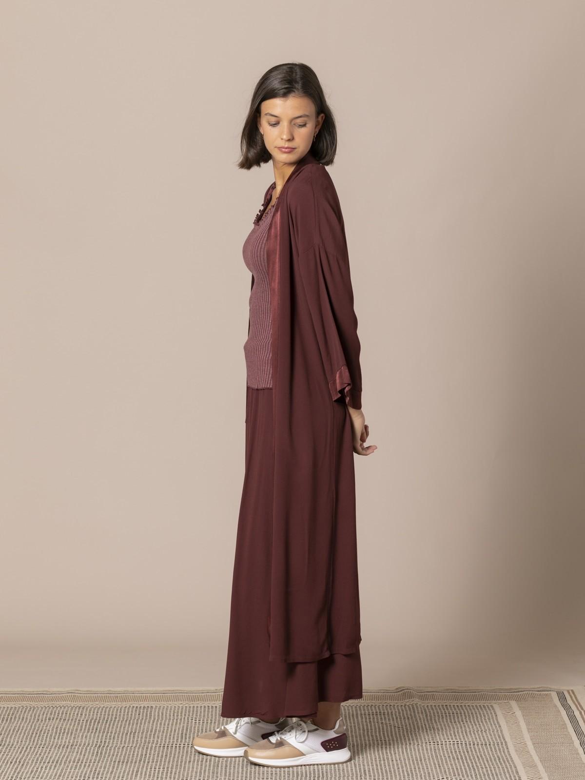 Kimono fluido mujer Granate