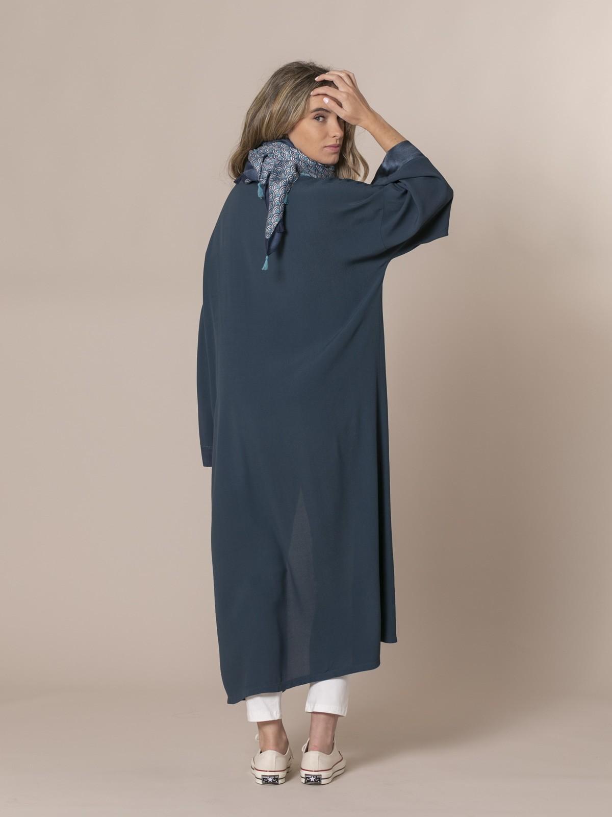 Woman Flowy kimono Blue