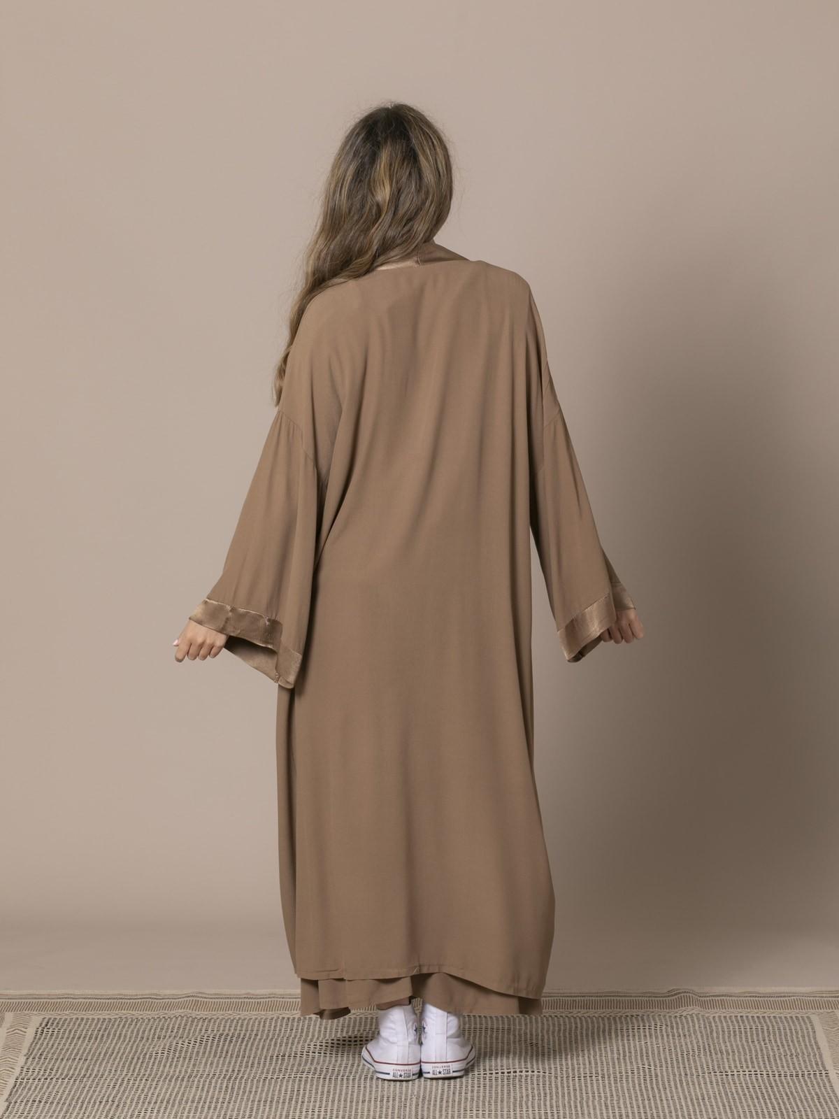 Kimono fluido mujer Camel