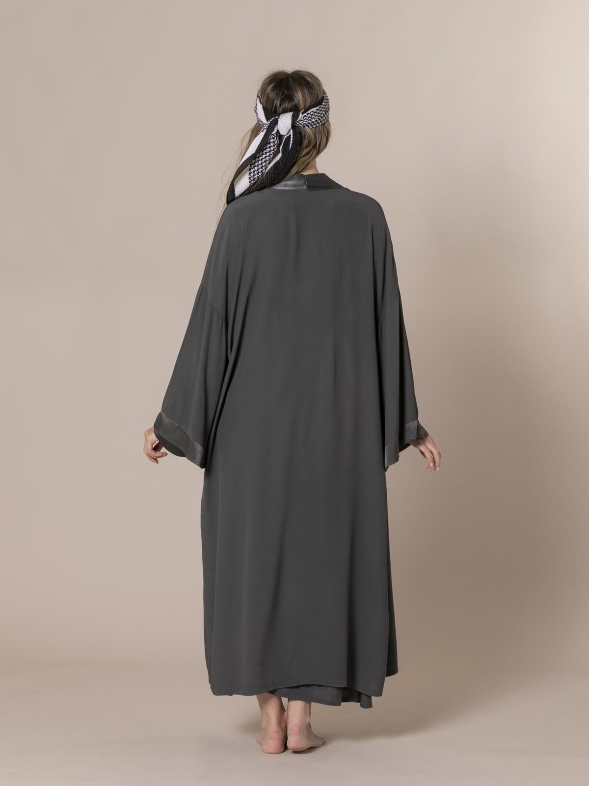 Kimono fluido mujer Gris