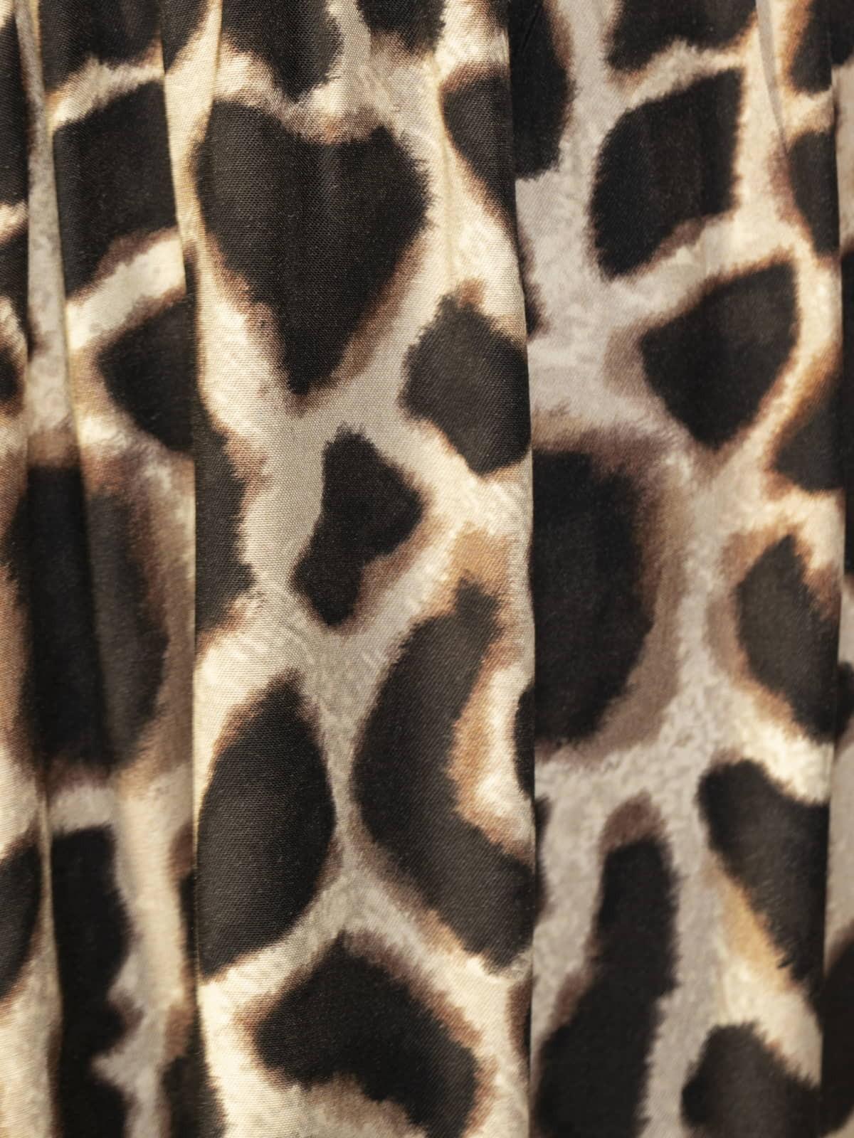Woman Fluid animal print dress Black