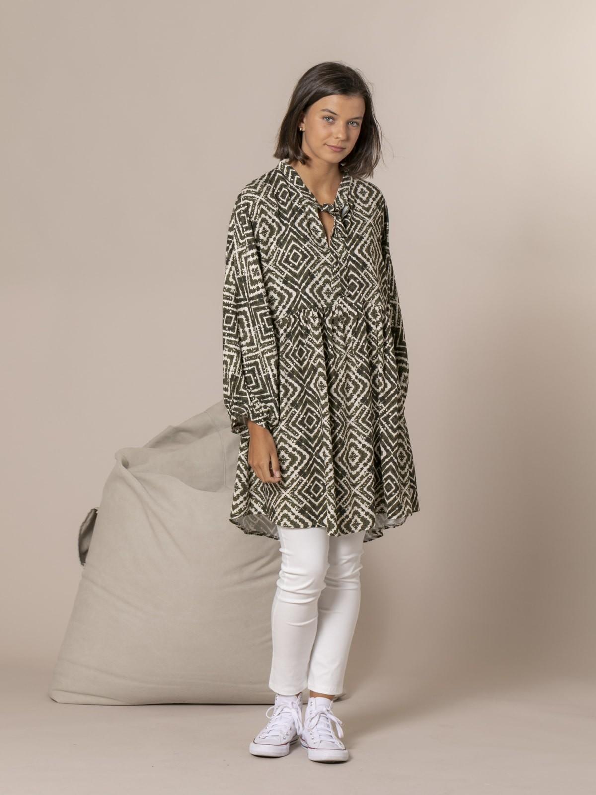Woman Oversize ethnic dress Khaki