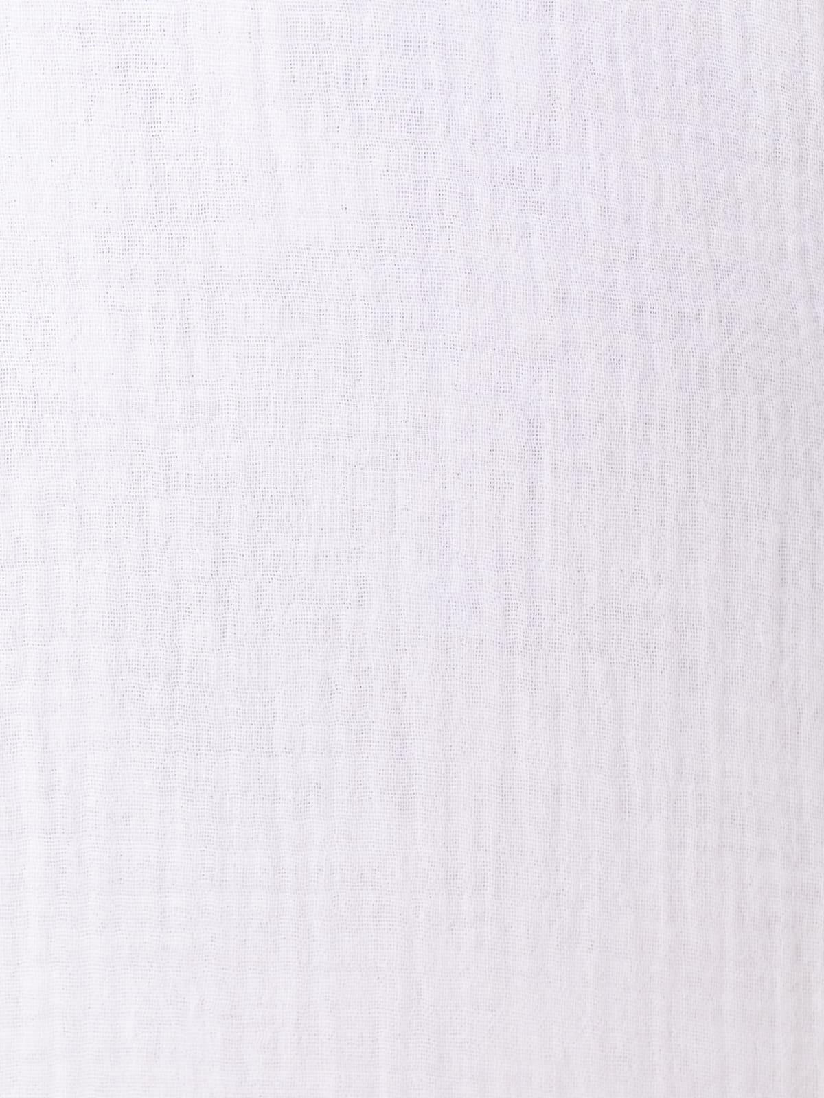 Camisa trendy algodón bajo redondeado Blanco