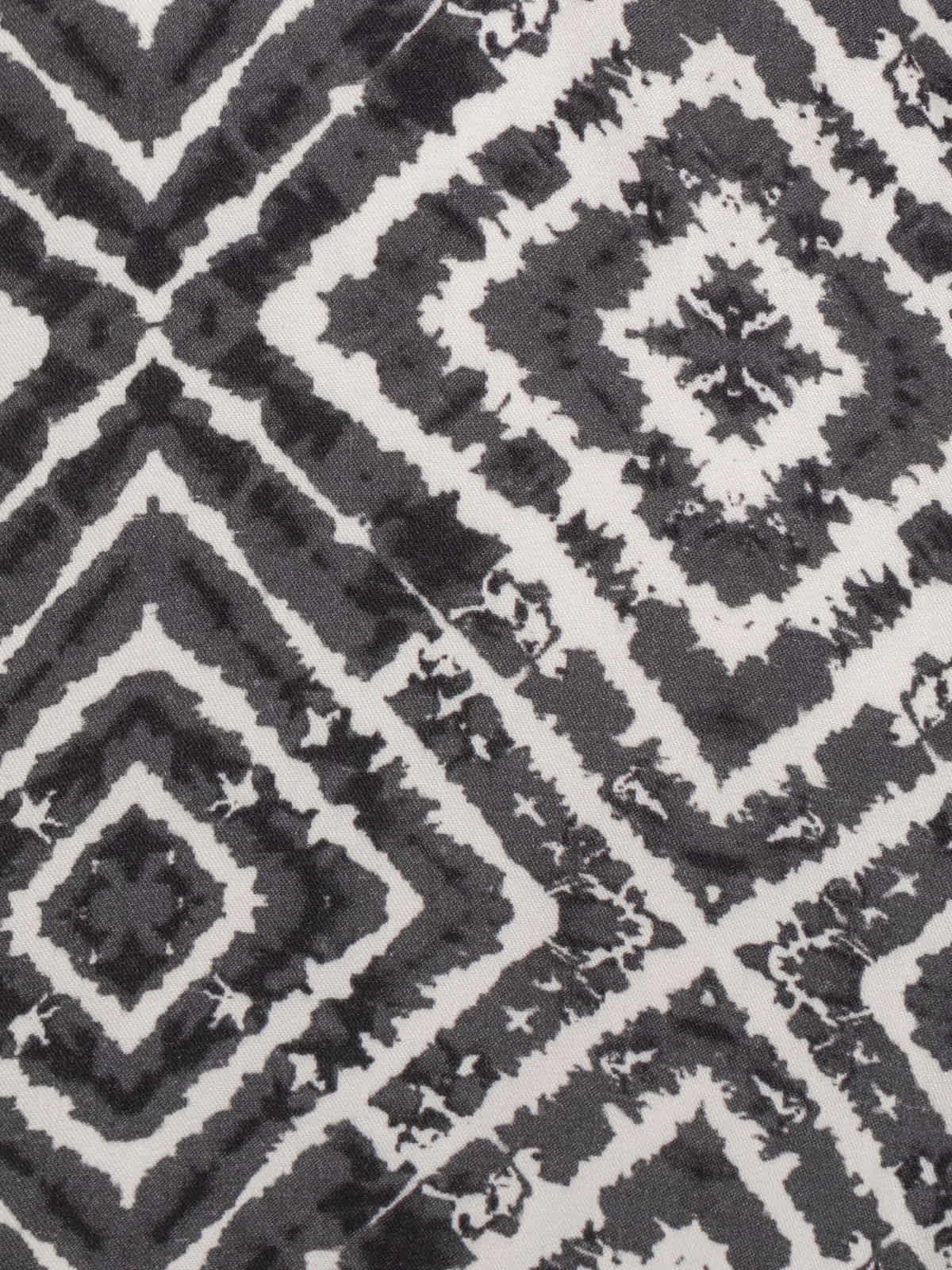 Woman seventy print kimono Grey