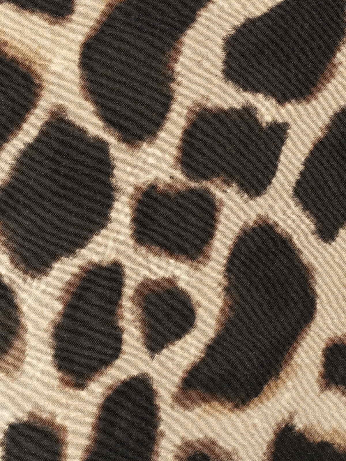 Kimono estampado mujer animal print Negro