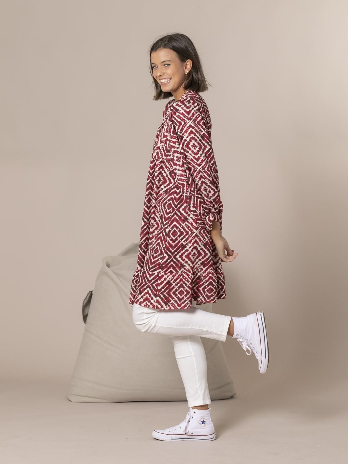 Woman Seventy print dress Granate