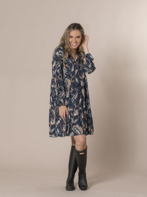 Woman Etro print dress Blue Navy
